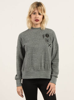 Sudadera Corta Staying High - Charcoal