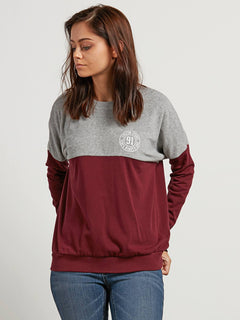 Sudadera Blocking  - Burgundy