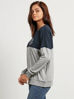 Sudadera Blocking  - Sea Navy