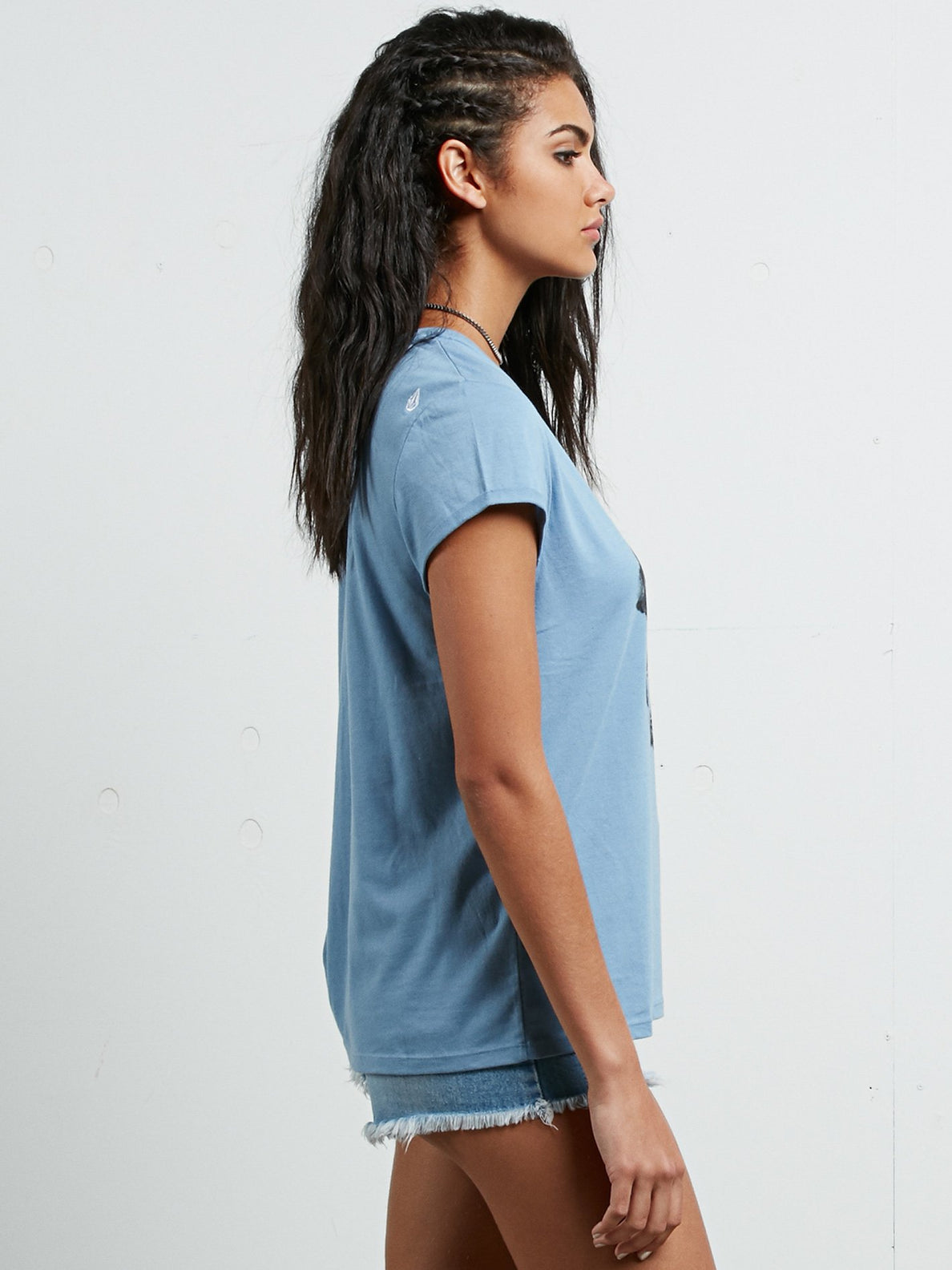 Camiseta de Manga Corta Radical Daze - Washed Blue