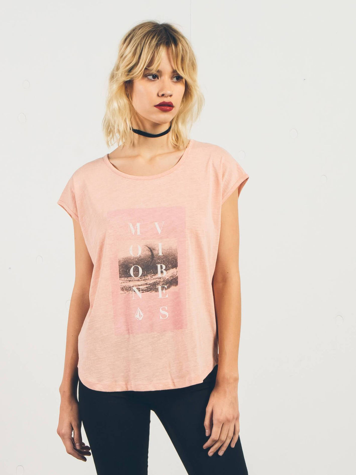 Stay Cosmic Short Sleeve - Mellow Rose