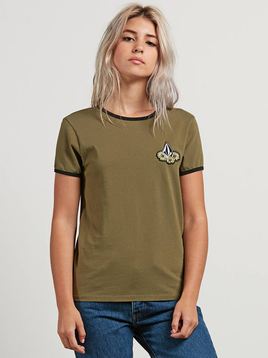 Camiseta Keep Goin Ringer  - Dark Camo