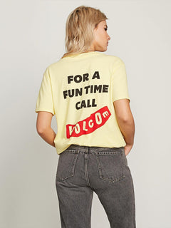 Camiseta I'll Take Both Tee - Faded Yellow