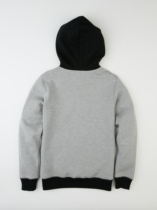 Single Stone Division Hooded Pullover - Grey (Niňo)