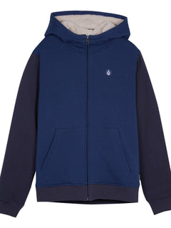 Single Stone Lined Zip Sweaters - Matured Blue (Niňo)