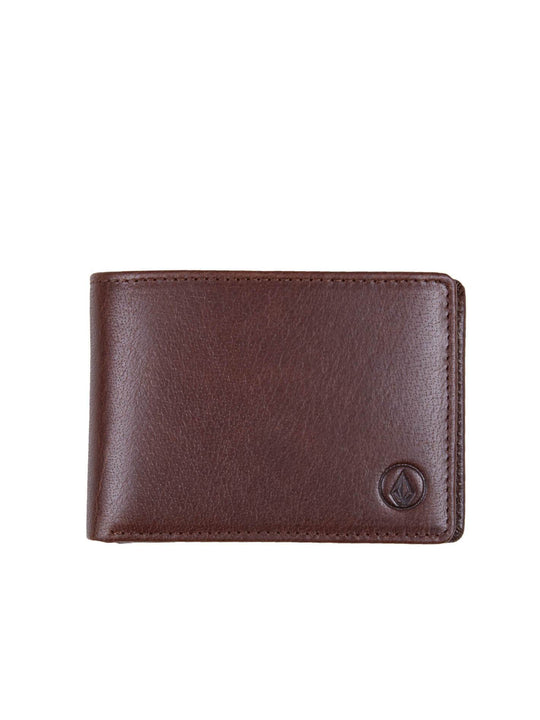 VOLCOM LEATHER WLT BROWN