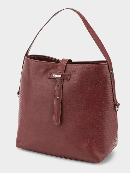 Bolso saco Line  - Bark Brown