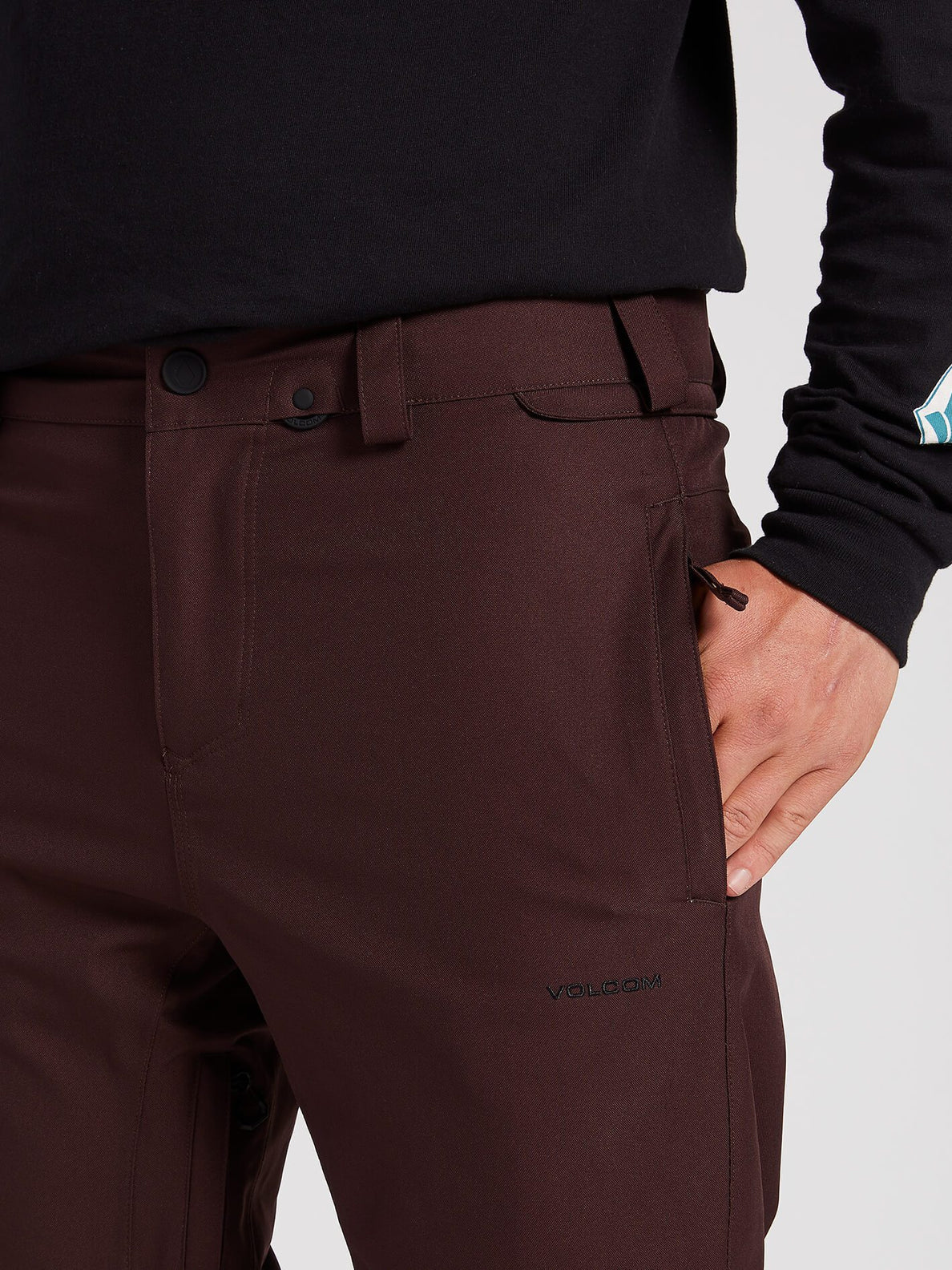 Freakin Snow Chino Pants - Black Red (G1351912_BRD) [1]