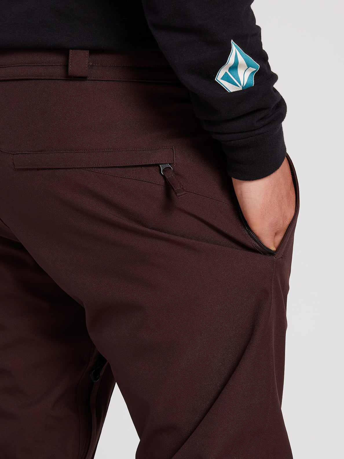 Freakin Snow Chino Pants - Black Red (G1351912_BRD) [2]