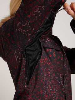Chaqueta de snow Shadow Ins  - Black Floral Print