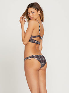Braguita de bikini Plaid Attitud Hipster - Dark Chocolate (reversible)