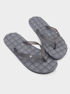 Recliner Rubber 2 Sandals - Black Grey