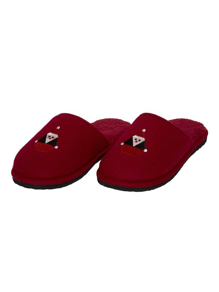 PANTUFLAS SANTASTONE COZY- DEEP RED