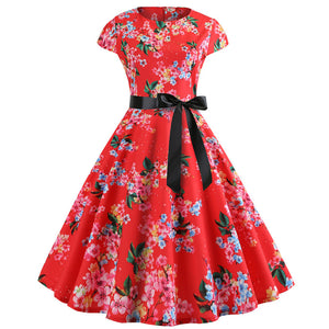 1950s Rockabilly Cocktail Party Dress - Itopfox