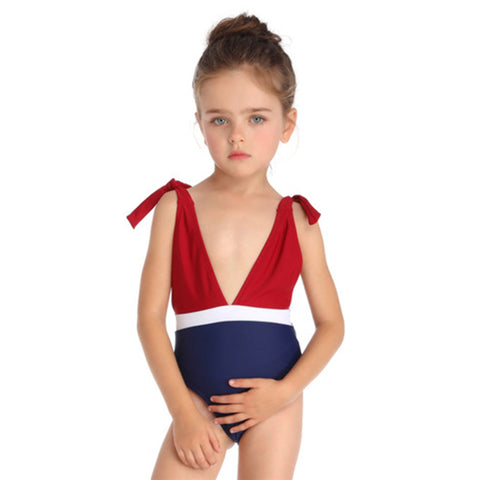 Bowknot One-Piece Swimsuit - Itopfox