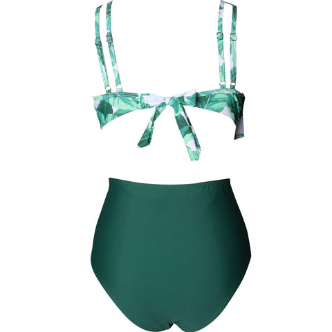 Ruffle Layered High Waist Swimwear - Itopfox