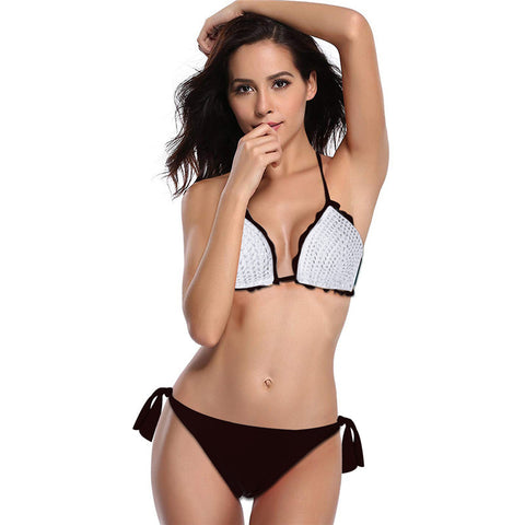 Image of Knit Two Pieces Bikini Set - Itopfox