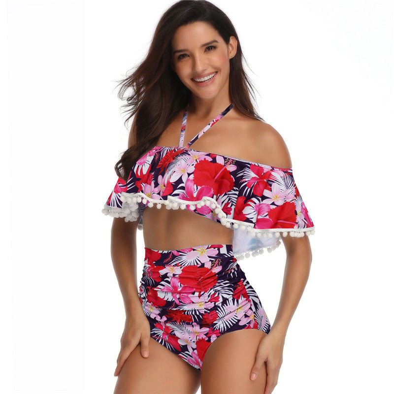 Halter High Waist Swimwear - Itopfox