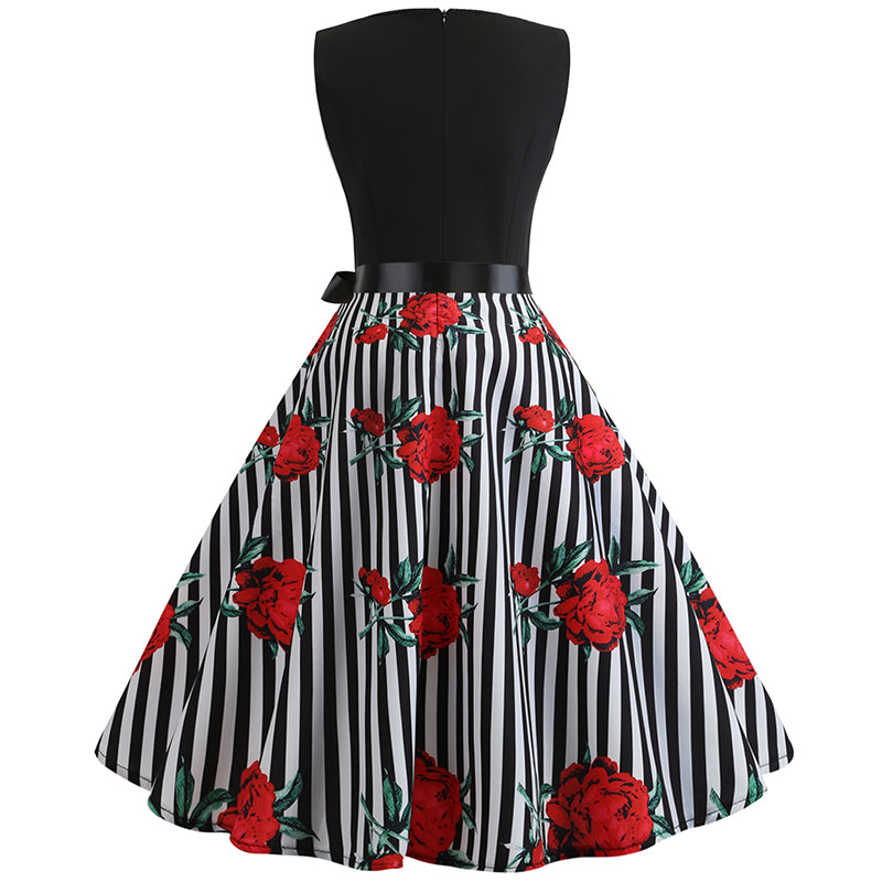 Classic Vintage Tea Party Cocktail Dress - Itopfox
