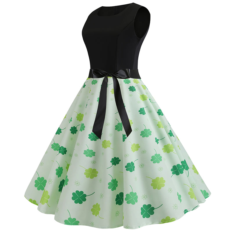 1950's Vintage Hepburn Tea Party Dress - Itopfox