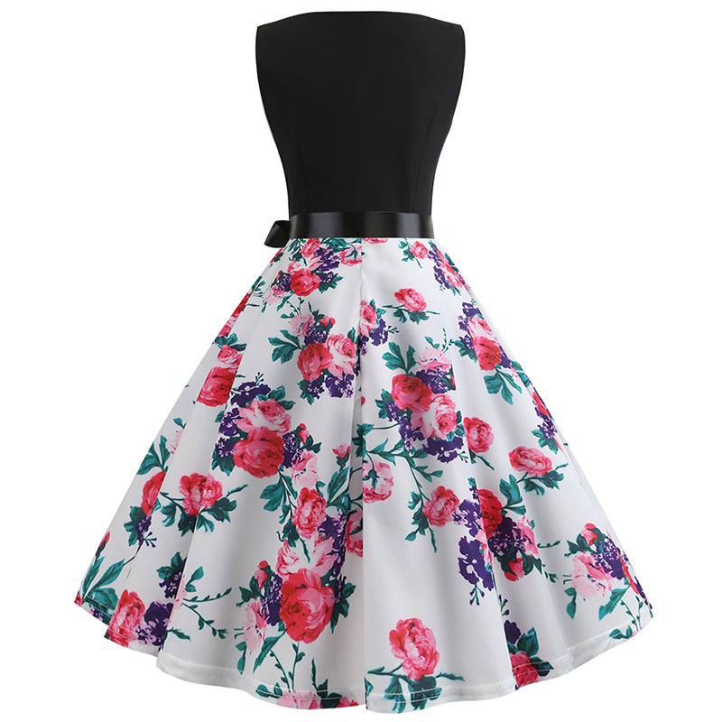 Classic Tea Party Cocktail Retro Dress - Itopfox