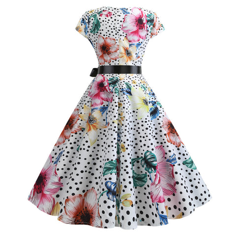 Image of 1950's Bowknot Vintage Cocktail Party Dress - Itopfox