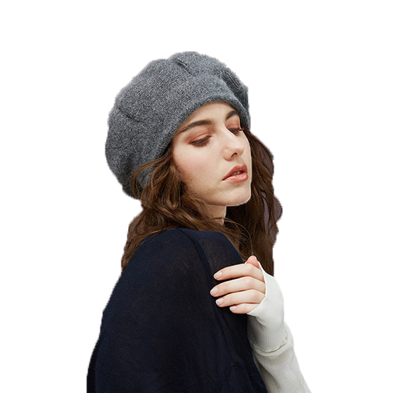 Wool Beret With Vintage Style - Itopfox