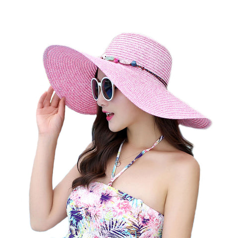 Image of Pearl Wide Brim Floppy Beach Sunhat - Itopfox