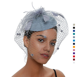 Veil Fascinator For Banquet - Itopfox