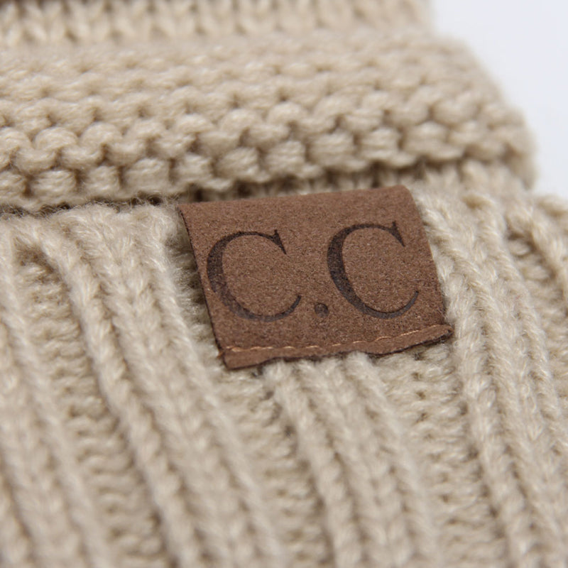 Chunky Knit Beanie Hat (With CC Label) - Itopfox