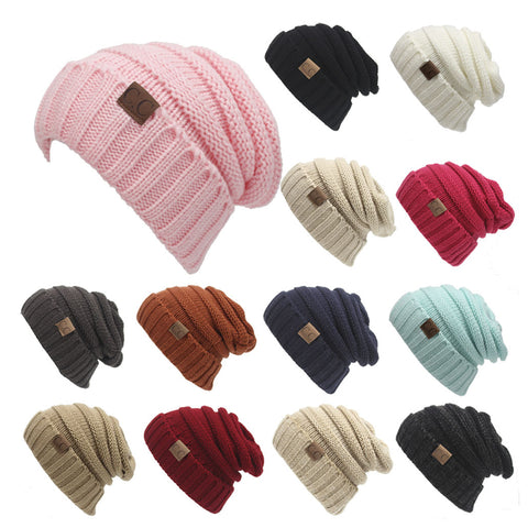 Image of Chunky Knit Beanie Hat (With CC Label) - Itopfox