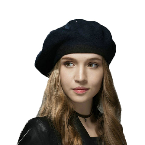 SATINIOR 10 Piece Artificial Wool Beret for Woman Artist Hat French Style Beret Polyester Beret Hat Set