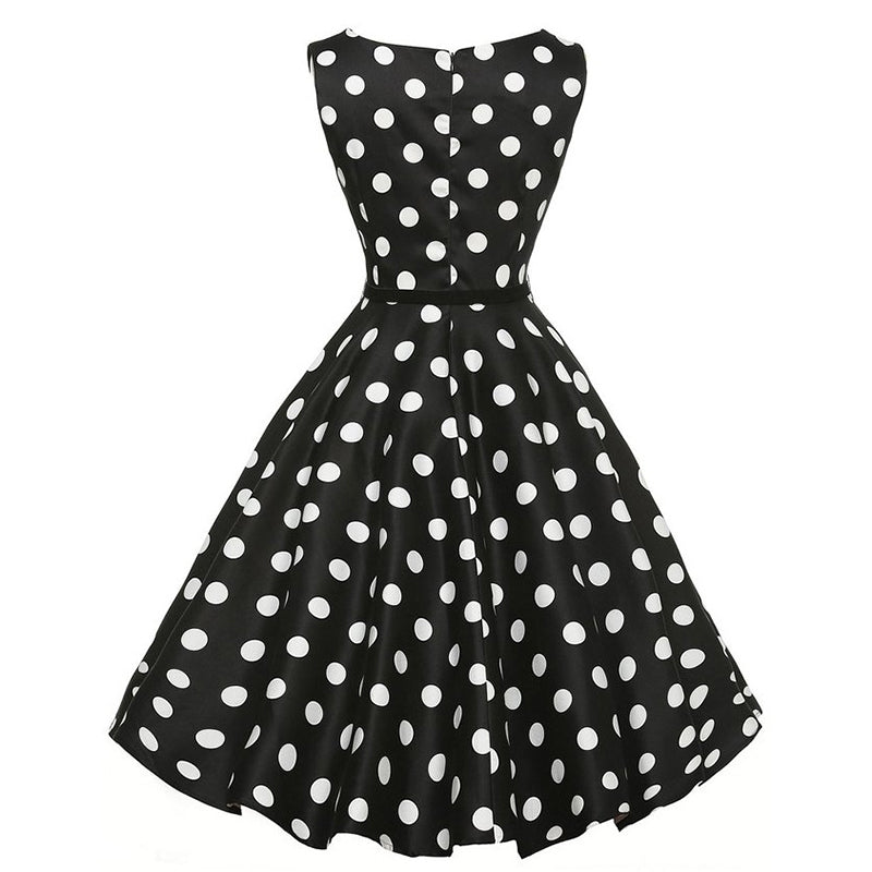 Polka Dots Vintage Tea Party Dress - Itopfox