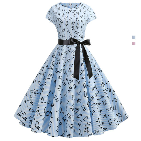 1950's Bowknot Vintage Cocktail Party Dress - Itopfox