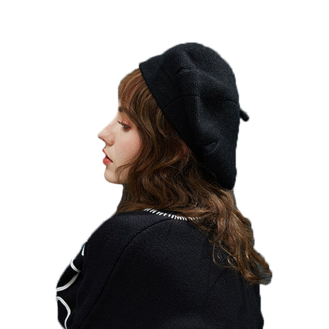 Image of Wool Beret With Vintage Style - Itopfox