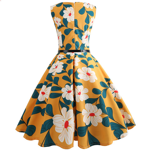 1950's Retro Hepburn  Cocktail Dress - Itopfox