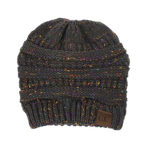 Confetti Ponytail Knit Beanie (With CC Label) - Itopfox