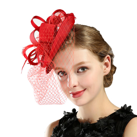 Cocktail Veil Fascinators Pill Hat - Itopfox