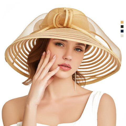 Wide Brim Cloche Sun Hat - Itopfox