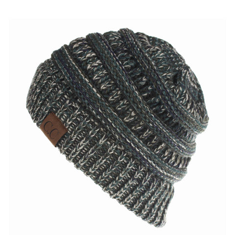 Image of Cable Knit Confetti Chunky Beanie Hat (With CC Label) - Itopfox
