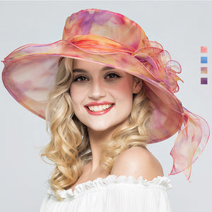 Foldable Organza Church Kentucky Derby Hat - Itopfox