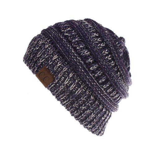 Cable Knit Confetti Chunky Beanie Hat (With CC Label) - Itopfox