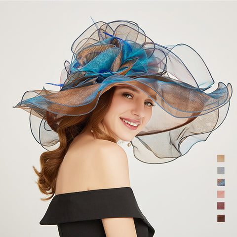 Image of Organza Church Kentucky Derby Hat - Itopfox