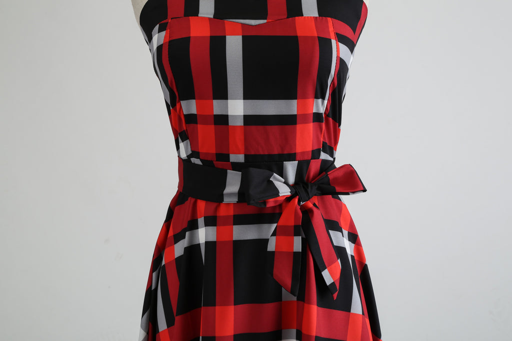 1950's Retro Halter Dress - Itopfox