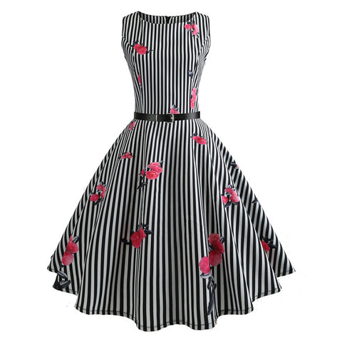1950's Hepburn Vintage Dress - Itopfox