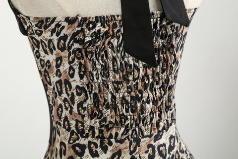 Image of Halter Leopard 50s Retro Dress - Itopfox