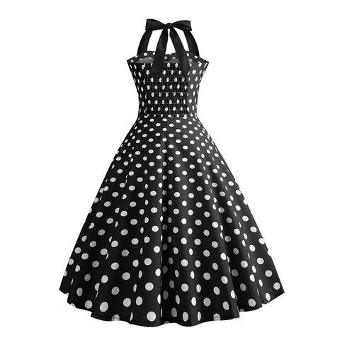 Halter 50s Retro Tea Party Dress - Itopfox