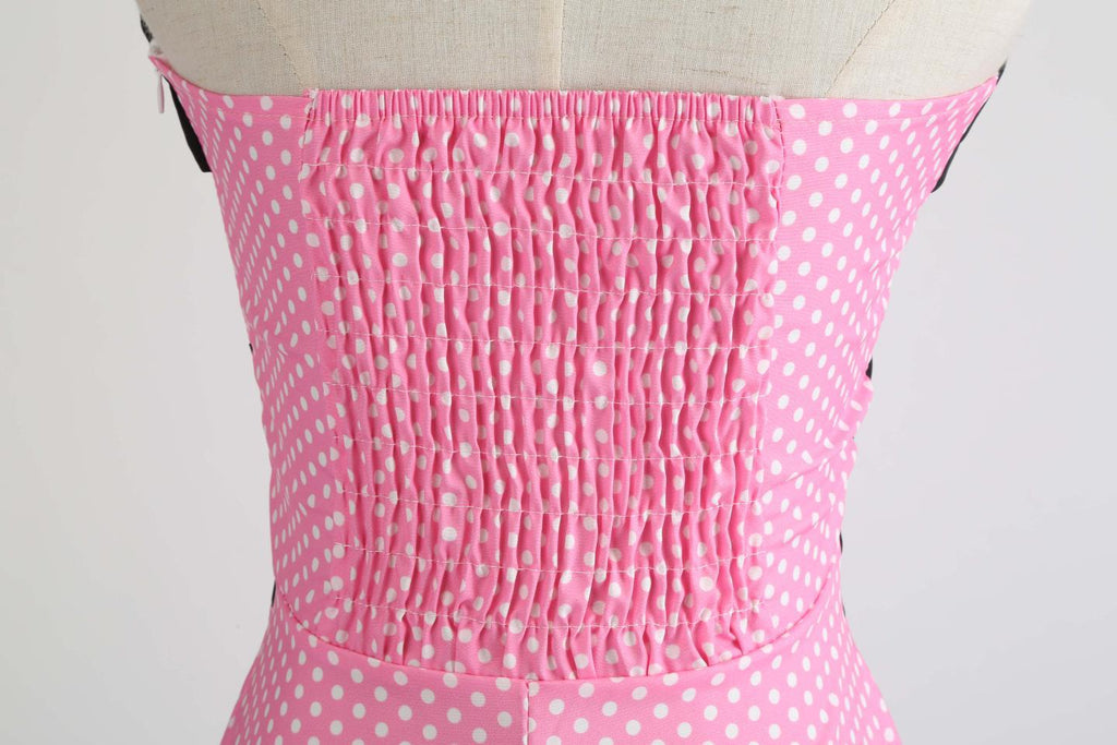 Halter 50s Hepburn Polka Dots Dress - Itopfox