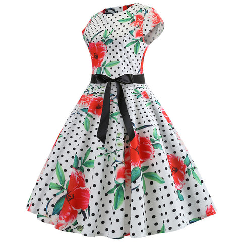 Image of 1950s Rockabilly Cocktail Party Dress - Itopfox