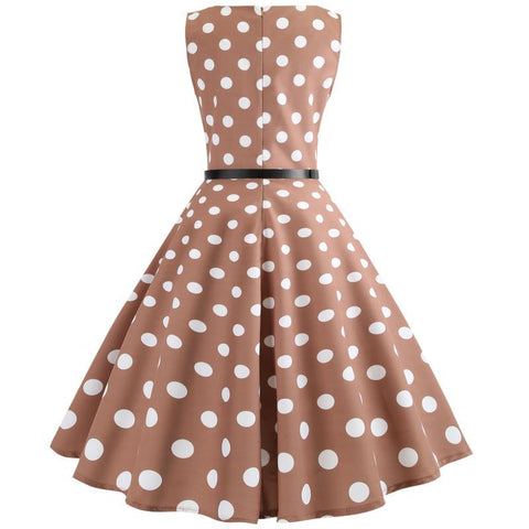 Retro Tea Party Hepburn Dress - Itopfox